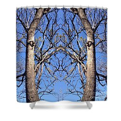 Conjoined Tree Collage Shower Curtain