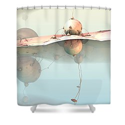 Connected Shower Curtain by Michelle H