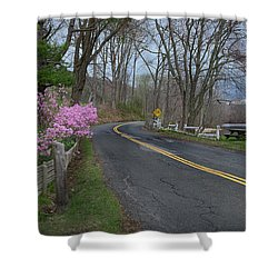 Shower Curtain featuring the photograph Connecticut Country Road by Bill Wakeley