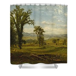 Connecticut River Valley, Claremont, New Hampshire Shower Curtain