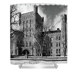 Shower Curtain featuring the photograph Connecticut Street Armory 3997b by Guy Whiteley