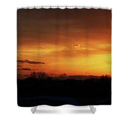 Connecticut Sunset Shower Curtain