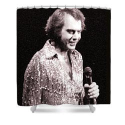 Connecting With The Audience Shower Curtain