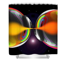 Connection Shower Curtain by Charles Stuart