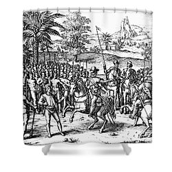 Conquest Of Inca Empire Shower Curtain by Granger