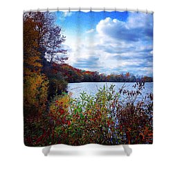 Conservation Park And Pine River In The Fall Shower Curtain