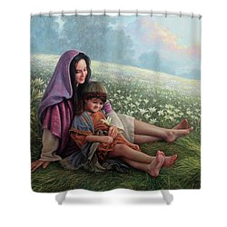 Consider The Lilies Shower Curtain by Greg Olsen