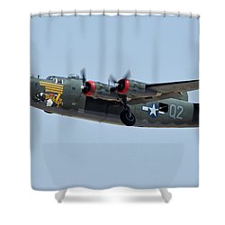 Consolidated B-24j Liberator N224j Witchcraft Phoenix-mesa Gateway Airport Arizona April 15 2016 Shower Curtain by Brian Lockett