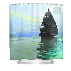 Consort Shower Curtain by Corey Ford