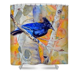 Constant Motion Shower Curtain by Beverley Harper Tinsley