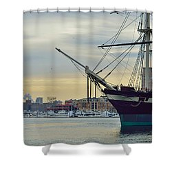 Constellation And Domino Sugars Shower Curtain by William Bartholomew