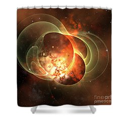 Constellation Shower Curtain by Corey Ford
