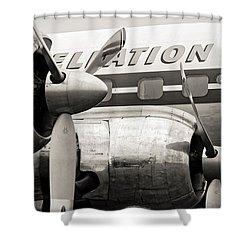 Constellation Power Shower Curtain by Ian Merton