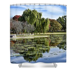 Constitution Gardens On The National Mall Shower Curtain