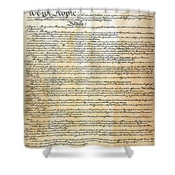 Constitution Shower Curtain by Granger