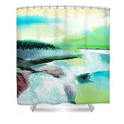 Constructing Reality 1 Shower Curtain