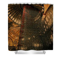 Shower Curtain featuring the photograph Construction - Hagia Sophia by Jim Vance
