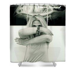 Contact Shower Curtain by Yelena Tylkina