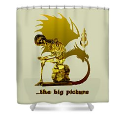Shower Curtain featuring the photograph Contemplating Mortality by Robert G Kernodle