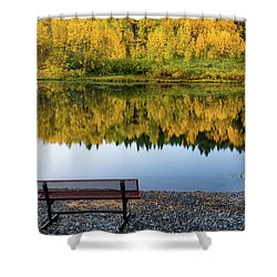 Shower Curtain featuring the photograph Contemplating The Colors Of A Colorado Autumn by John De Bord
