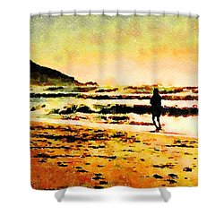 Shower Curtain featuring the painting Contemplation by Angela Treat Lyon