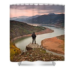 Contemplation Shower Curtain by Evgeni Dinev