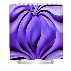 Shower Curtain featuring the photograph Contemplation In Purple by Roberta Byram