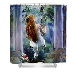 Contemplation Shower Curtain by Mary Hood