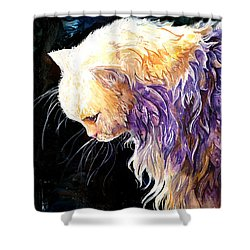 Shower Curtain featuring the painting Contemplation by Sherry Shipley