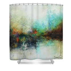 Contemporary Abstract Art Painting Shower Curtain by Patricia Lintner