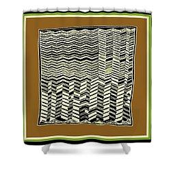 Shower Curtain featuring the digital art Contemporary African Tribal Kuba Design  by Vagabond Folk Art - Virginia Vivier
