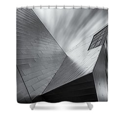 Shower Curtain featuring the photograph Contemporary Architecture Of The Shops At Crystals, Aria, Las Ve by Adam Romanowicz