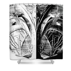 Contemporary Art - Black And White Embers 1 - Sharon Cummings Shower Curtain by Sharon Cummings