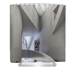 Contemporary Art Museum Interior Shower Curtain