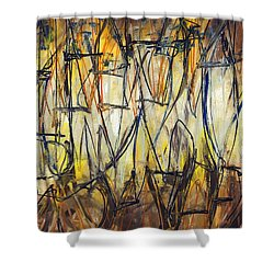 Contemporary Art Three Shower Curtain