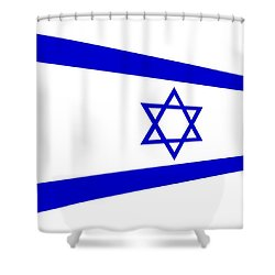 Contemporary Flag Of Israel Shower Curtain