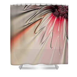 Shower Curtain featuring the digital art Contemporary Flower by Bonnie Bruno