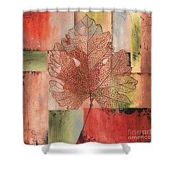 Contemporary Grape Leaf Shower Curtain by Debbie DeWitt