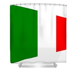 contemporary Italian Flag Shower Curtain