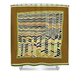 Shower Curtain featuring the digital art Contemporary Kuba Cloth by Vagabond Folk Art - Virginia Vivier
