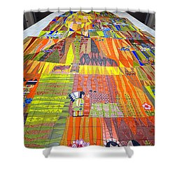 Contemporary Mosaic Shower Curtain by David Lee Thompson