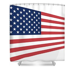Contemporaryusa Flag Shower Curtain