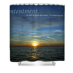 Contentment Shower Curtain