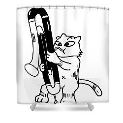 Contra Bassoon Fox Shower Curtain