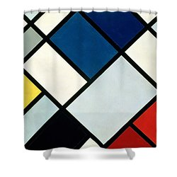 Contracomposition Of Dissonances Shower Curtain by Theo van Doesburg