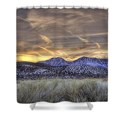 Contrails And Sage Brush Shower Curtain