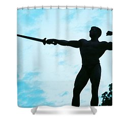 Contrast Shower Curtain by Jake Hartz