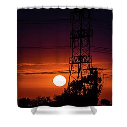 Shower Curtain featuring the photograph Contrast Of Two Powers by April Reppucci