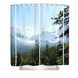 Controlled Burn Of Yosemite Panoramic Map Shower Curtain
