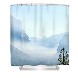 2 Of 4 Controlled Burn Of Yosemite Section Shower Curtain
